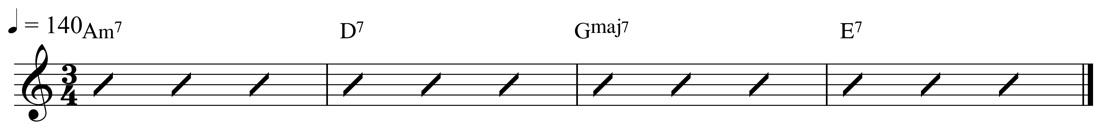 Jazz Waltz - G